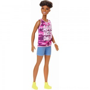 Barbie Fashionistas Doll #128 Good Vibes Only - Clearance Sale