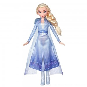 Disney Frozen 2 Elsa Fashion Doll With Long Blonde Hair and Blue Outfit - Clearance Sale