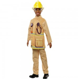 Barbie Ken Career Firefighter Doll - Clearance Sale