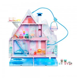 L.O.L. Surprise! Winter Disco Chalet Doll House with 95+ Surprises - Clearance Sale