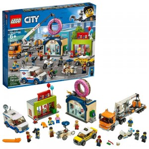 LEGO City Donut Shop Opening 60233 Store Opening Build and Play with Toy Vehicles and City Minifigures - Clearance Sale
