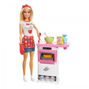 Barbie Careers Bakery Chef Doll and Playset - Clearance Sale