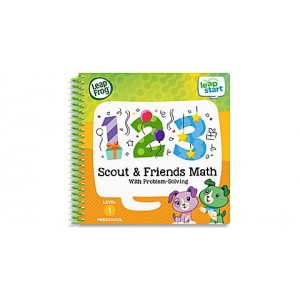 LeapStart® 2 Book Combo Pack: Scout & Friends Math and Moonlight Hero Math With PJ Masks Ages 3-6 yrs. - Clearance Sale