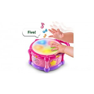 Learn & Groove™ Color Bilingual Play Drum - Online Exclusive Pink Ages 6-36 months - Clearance Sale