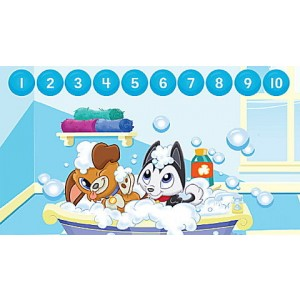 LeapStart® Pet Pal Puppies Math with Social Emotional Skills 30+ Page Activity Book Ages 3-5 yrs. - Clearance Sale