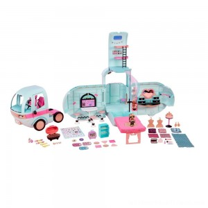 L.O.L. Surprise! 2-in-1 Glamper Fashion Camper with 55+ Surprises - Clearance Sale