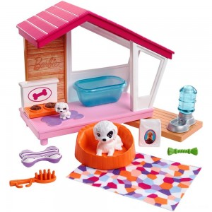Barbie Dog House Playset, doll accessories - Clearance Sale