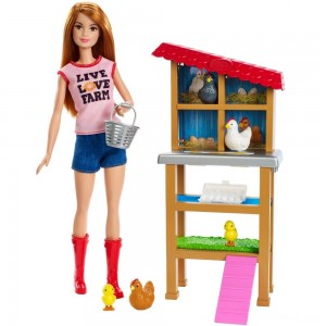 Barbie Chicken Farmer Doll & Playset - Clearance Sale