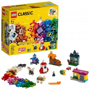 LEGO Classic Windows of Creativity 11004 Building Kit with Toy Doors for Creative Play 450pc - Clearance Sale