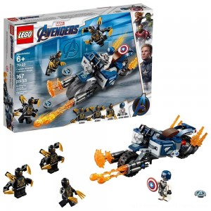 LEGO Super Heroes Marvel Avengers Movie 4 Captain America: Outriders Attack 76123 - Clearance Sale