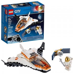 LEGO City Space Satellite Service Mission 60224 Space Shuttle Toy Building Set 84pc - Clearance Sale