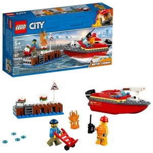 LEGO City Dock Side Fire 60213 - Clearance Sale