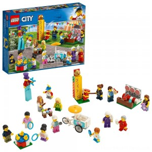LEGO City People Pack - Fun Fair 60234 Toy Fair Building Set with Ice Cream Cart 183pc - Clearance Sale