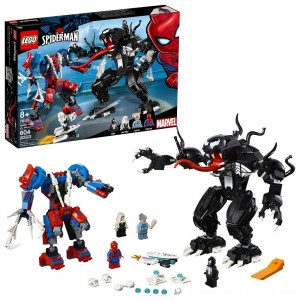 LEGO Marvel Spider Mech Vs. Venom Ghost Spider Superhero Playset with Web Shooter 76115 - Clearance Sale