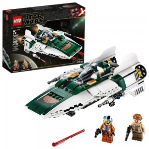 LEGO Star Wars: The Rise of Skywalker Resistance A-Wing Starfighter 75248 Advanced Collectible Starship Model Building Kit 269pc - Clearance Sale
