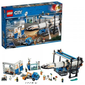 LEGO City Space Rocket Assembly & Transport 60229 Model Rocket Building Set with Toy Crane 1055pc - Clearance Sale