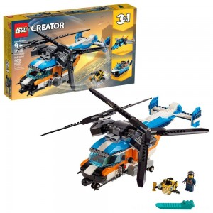 LEGO Creator Twin-Rotor Helicopter 31096 Toy Helicopter Building Set with Submarine 569pc - Clearance Sale