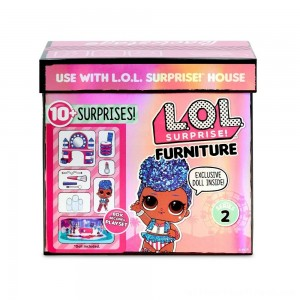 L.O.L. Surprise! Furniture Backstage with Independent Queen & 10+ Surprises - Clearance Sale